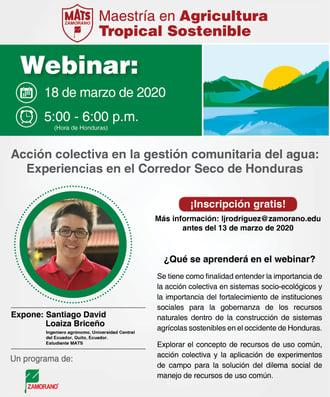 Webinar Acción Colectiva y Gobernanza Hídrica en el Corredor Seco-2